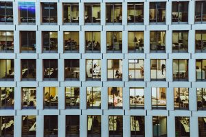 Office building successfully managing hybrid workforces