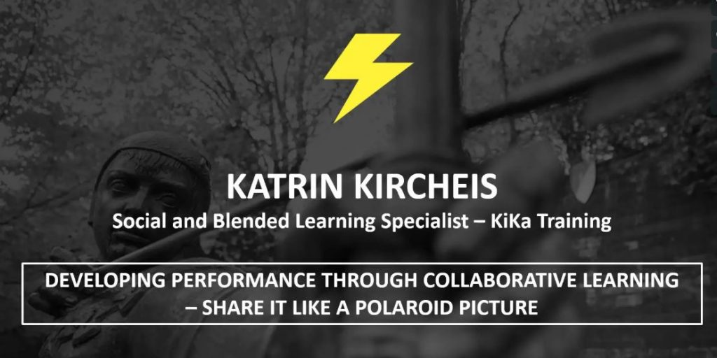 Advertisment for Katrin speaking at conference